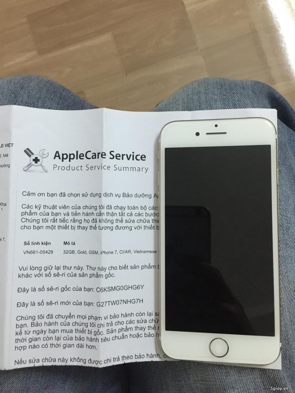 iPhone 7-32gb màu vàng máy mới 100% chưa active bảo hành chính hãng