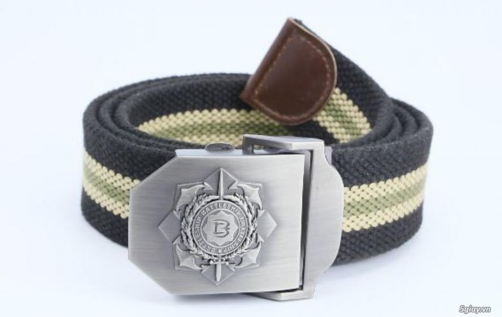 Chuyên bán dây nịt lính Mỹ US, dây nịt vải bố, thắt lưng vải mặt nhựa - 16