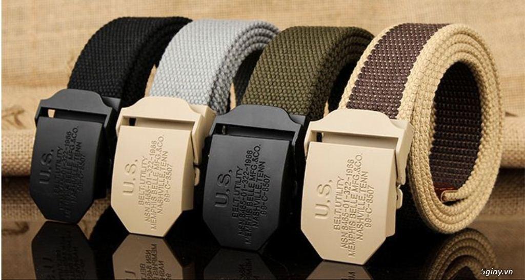 Chuyên bán dây nịt lính Mỹ US, dây nịt vải bố, thắt lưng vải mặt nhựa - 28