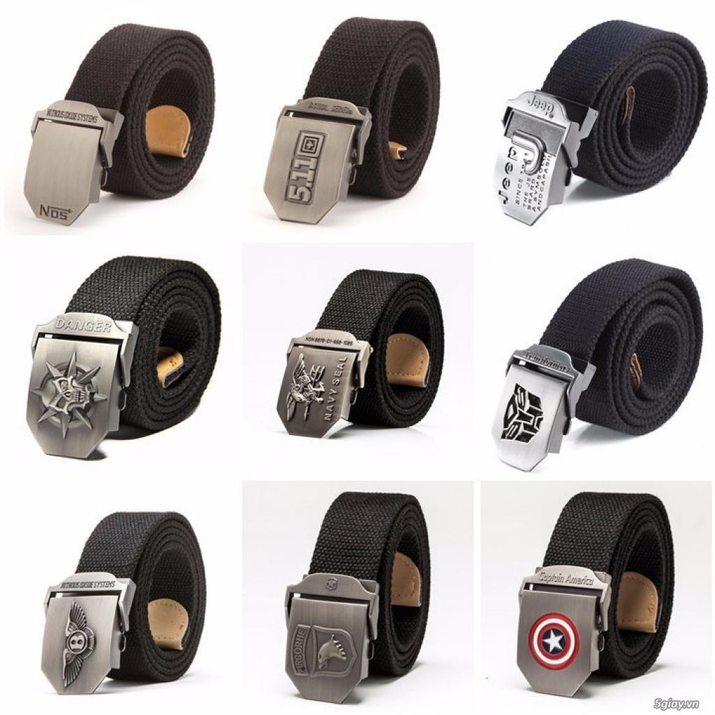 Chuyên bán dây nịt lính Mỹ US, dây nịt vải bố, thắt lưng vải mặt nhựa - 25