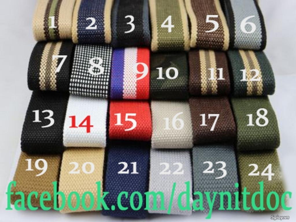 Chuyên bán dây nịt lính Mỹ US, dây nịt vải bố, thắt lưng vải mặt nhựa - 26