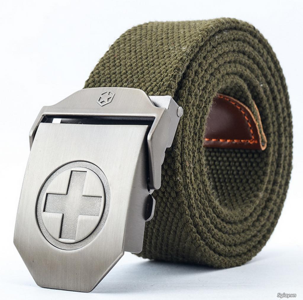 Chuyên bán dây nịt lính Mỹ US, dây nịt vải bố, thắt lưng vải mặt nhựa - 27