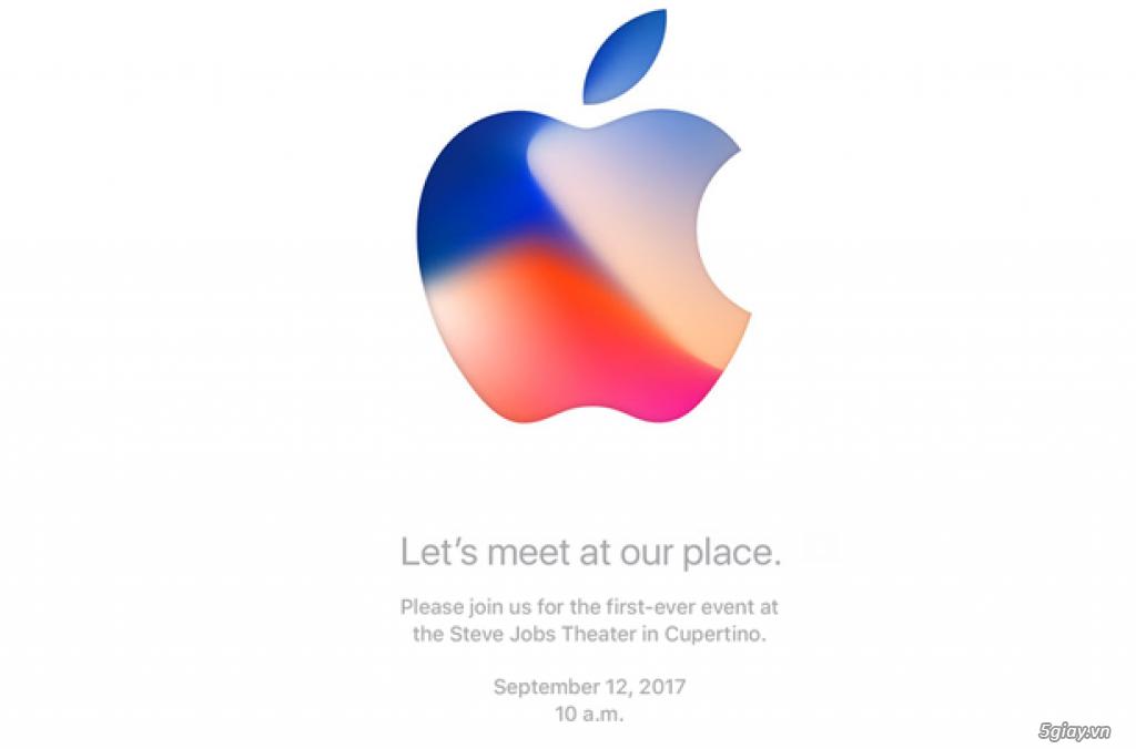 Thư mời ra mắt iPhone 8 chính thức