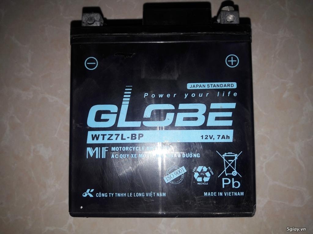 Bình AcQui Globe 12V-7Ah cho SH, Dylan, Lead