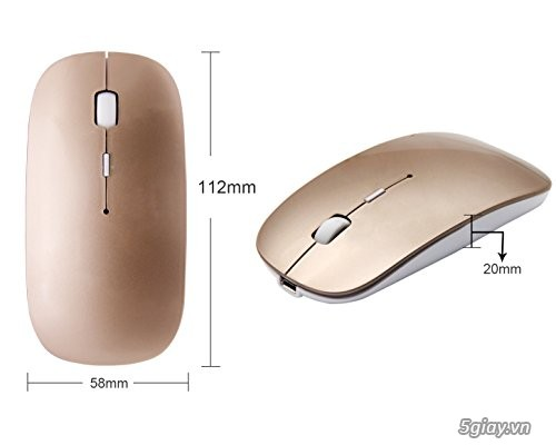 Chuột Tsmine Bluetooth Mouse Macbook, gold