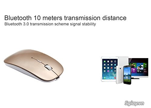 Chuột Tsmine Bluetooth Mouse Macbook, gold - 1