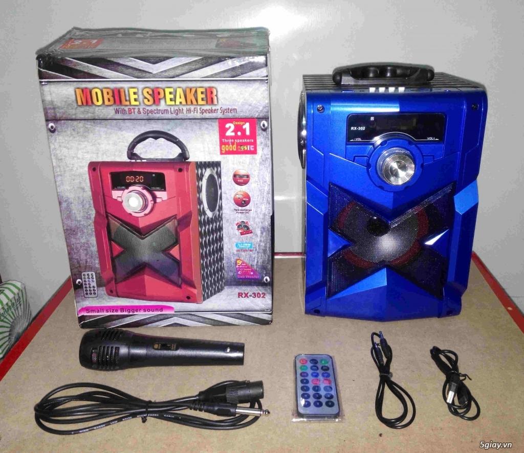 Loa Bluetooth Karaoke RX302 (mới 100%, tặng kèm micro)