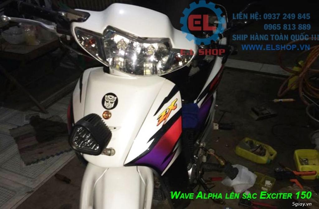 E.L SHOP Đèn led siêu sáng xe mô tô: XHP50, XHP70 i7, Cree, Philips Lumiled,Gương cầu LED xe gắn máy - 4