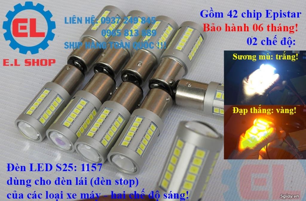 E.L SHOP Đèn led siêu sáng xe mô tô: XHP50, XHP70 i7, Cree, Philips Lumiled,Gương cầu LED xe gắn máy - 43