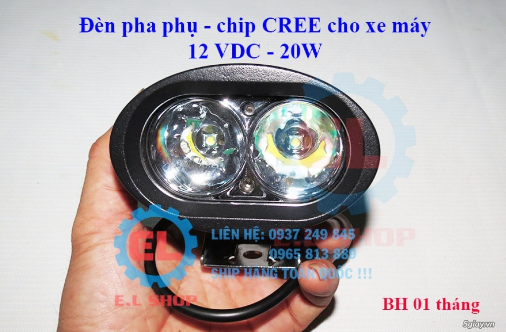 E.L SHOP Đèn led siêu sáng xe mô tô: XHP50, XHP70 i7, Cree, Philips Lumiled,Gương cầu LED xe gắn máy - 27