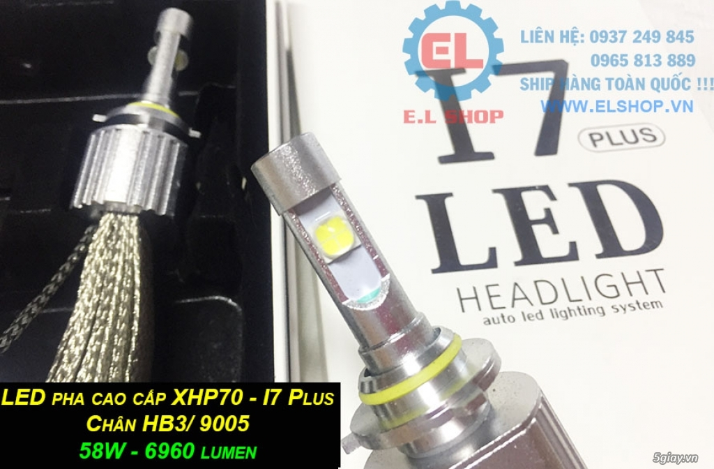 E.L SHOP - Đèn Led siêu sáng xe ô tô: XHP70, XHP50, Philips Lumiled, gương cầu xenon... - 4