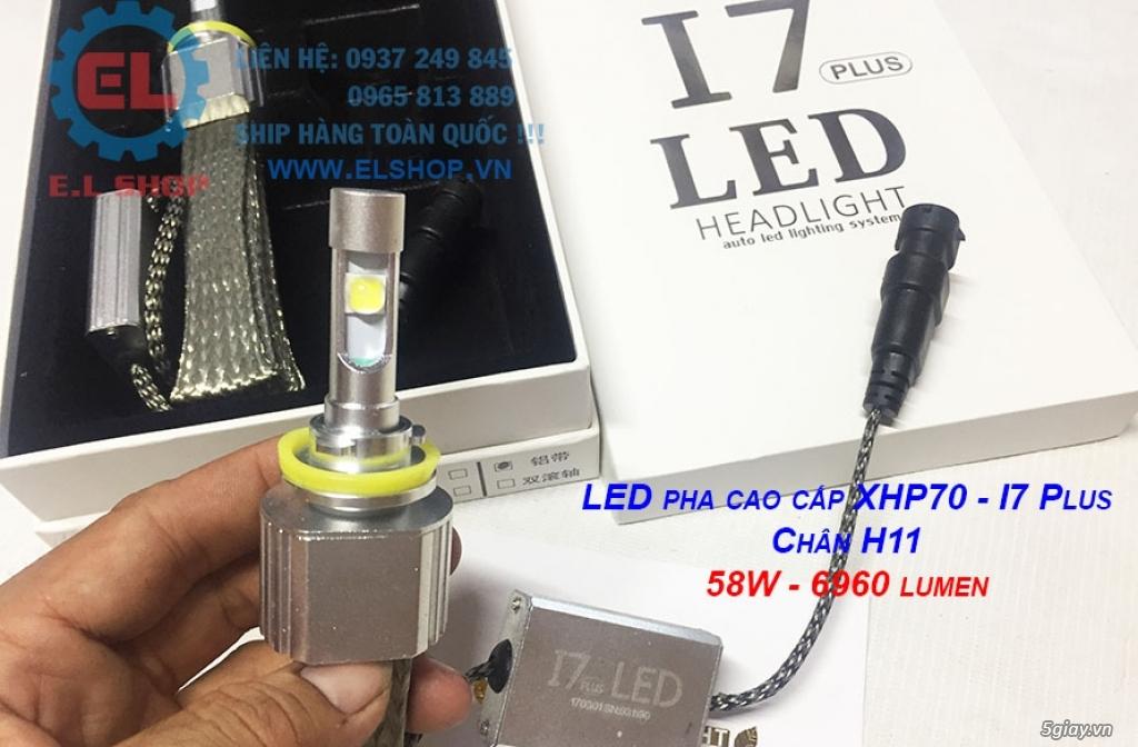 E.L SHOP - Đèn Led siêu sáng xe ô tô: XHP70, XHP50, Philips Lumiled, gương cầu xenon... - 3