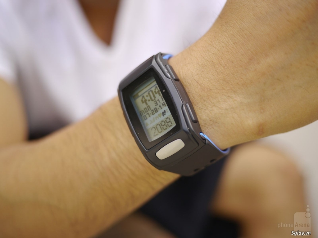Đồng hồ đo bước chân-nhịp tim-chống nước-kết nối ĐT-pin 1 năm-giá 300k