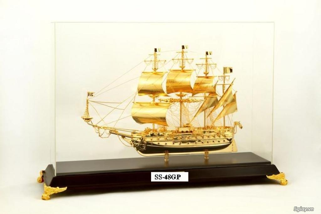 Chuyên bán mô hình các loại - Mô hình thuyền buồm bằng đồng - 1