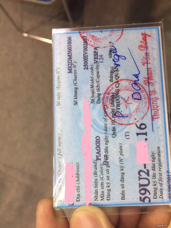 Dư xe thanh lý vespa 2017 leng keng - 1