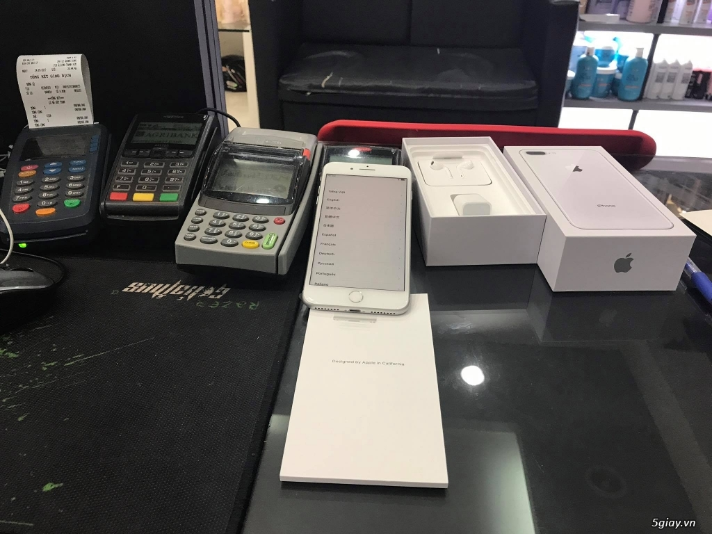 HCM - Iphone 8 plus 64gb Sliver hàng Mỹ, vừa cập bến Sài Gòn