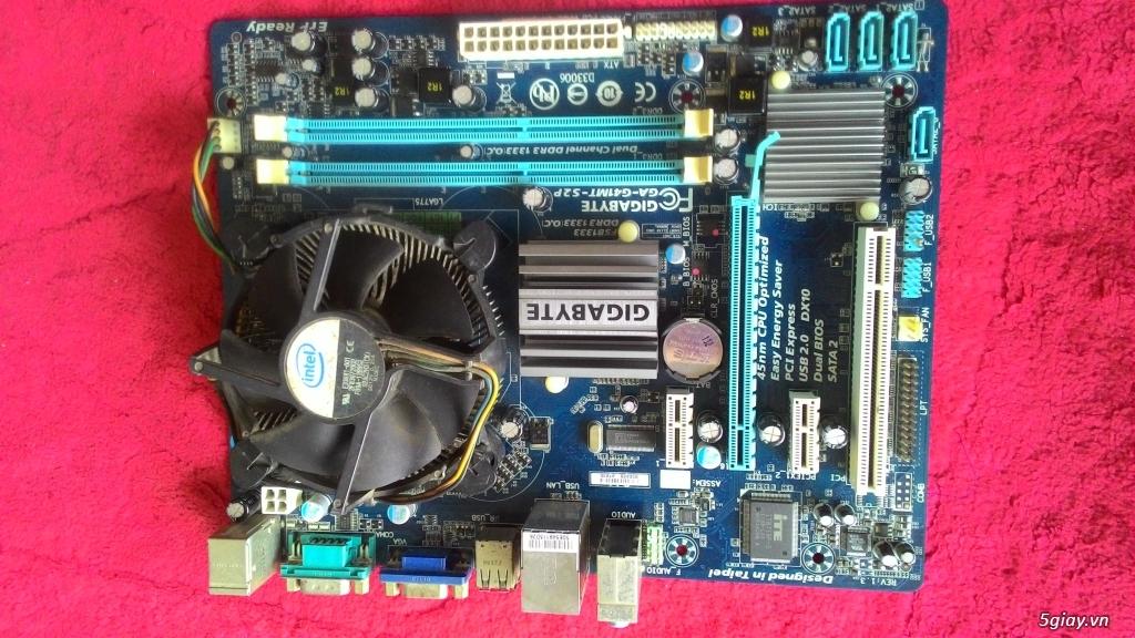 Cần bán combo main gigabyte g41 ram3 +e8600 +fan