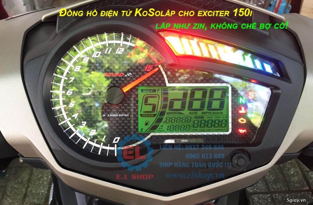 E.L SHOP - Đồng hồ điện tử cho xe máy, Koso, RX2N,... - 3