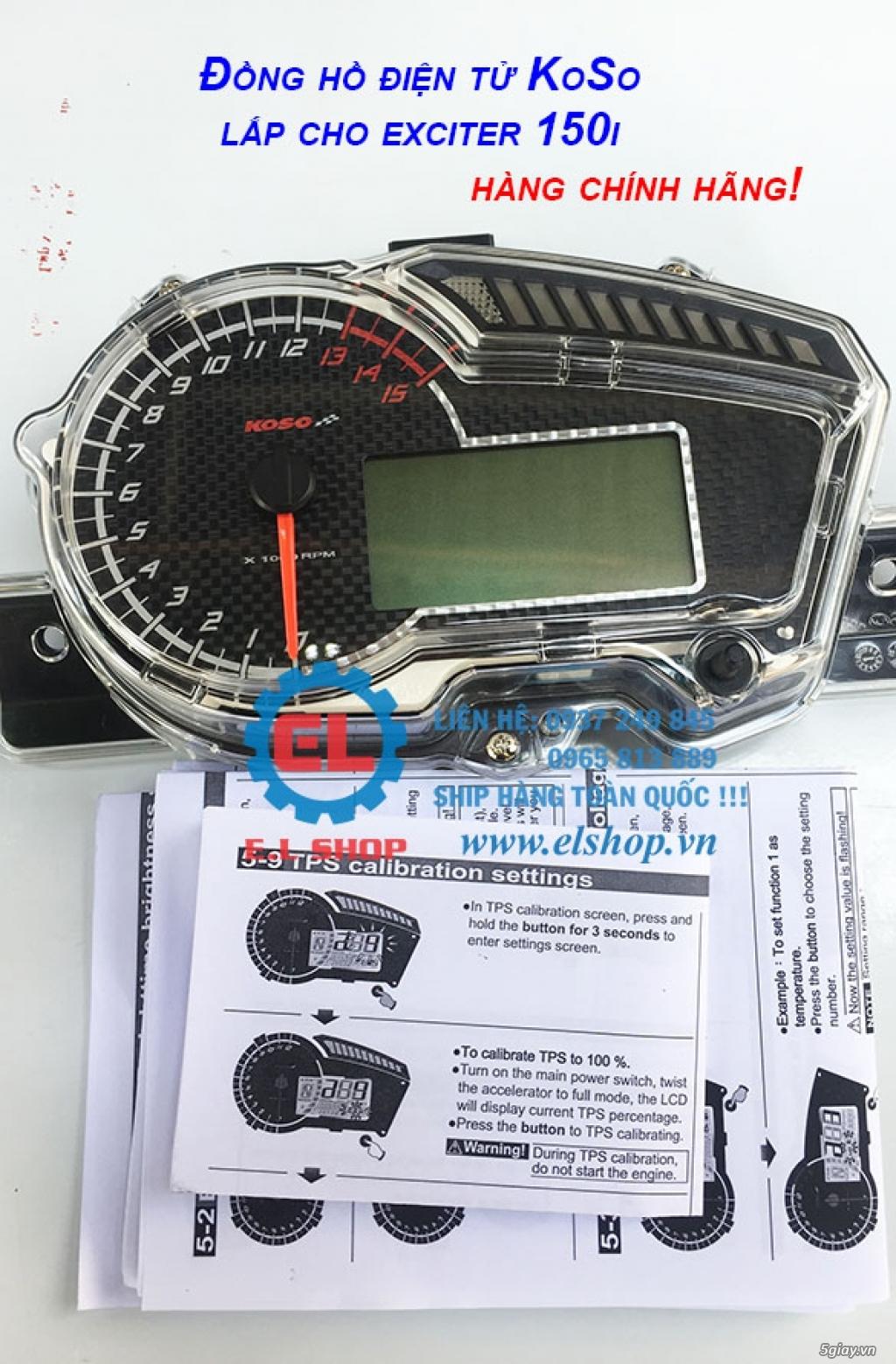 E.L SHOP - Đồng hồ điện tử cho xe máy, Koso, RX2N,... - 2