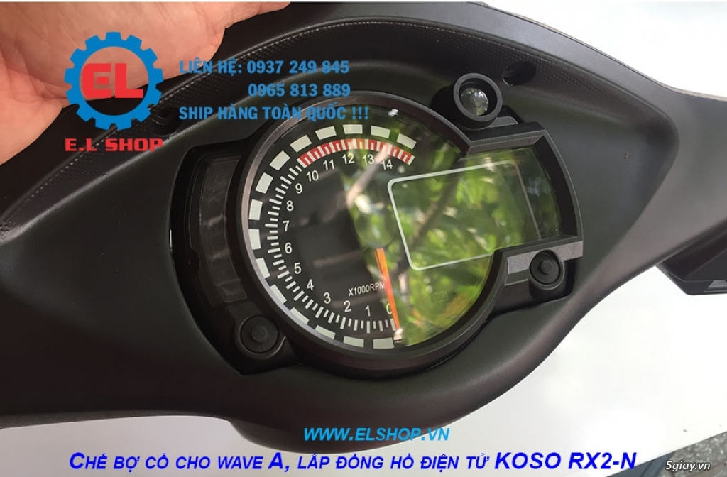 E.L SHOP - Đồng hồ điện tử cho xe máy, Koso, RX2N,... - 13