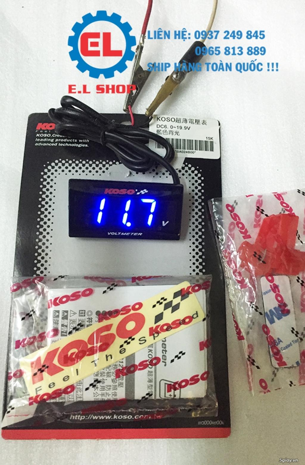 E.L SHOP - Đồng hồ điện tử cho xe máy, Koso, RX2N,... - 37