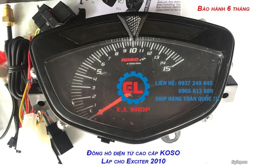 E.L SHOP - Đồng hồ điện tử cho xe máy, Koso, RX2N,... - 16