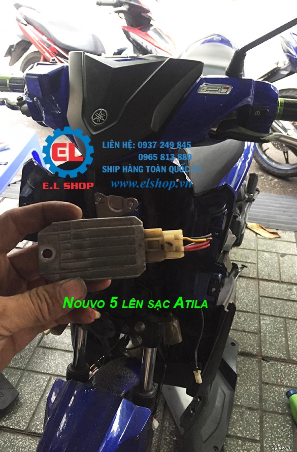 E.L SHOP Đèn led siêu sáng xe mô tô: XHP50, XHP70 i7, Cree, Philips Lumiled,Gương cầu LED xe gắn máy - 18