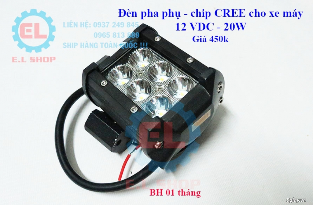 Đèn LED pha phụ cho Mô tô, Ô tô: L4, L4X, L5, L5 NCS, U5, U7, C3, C6.. - 12