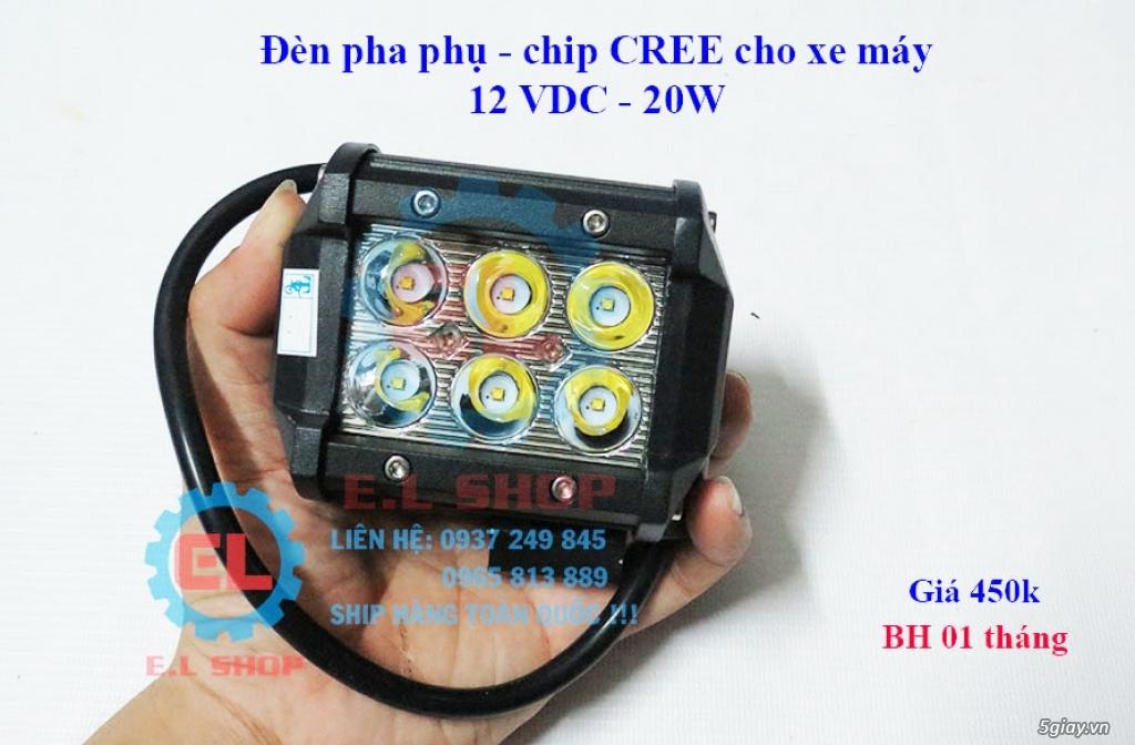 Đèn LED pha phụ cho Mô tô, Ô tô: L4, L4X, L5, L5 NCS, U5, U7, C3, C6.. - 13