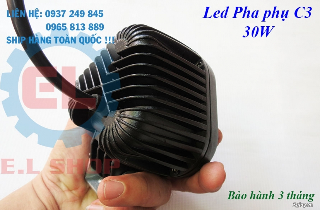 Đèn LED pha phụ cho Mô tô, Ô tô: L4, L4X, L5, L5 NCS, U5, U7, C3, C6.. - 23