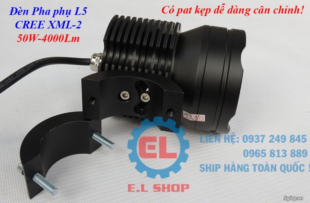 Đèn LED pha phụ cho Mô tô, Ô tô: L4, L4X, L5, L5 NCS, U5, U7, C3, C6.. - 9