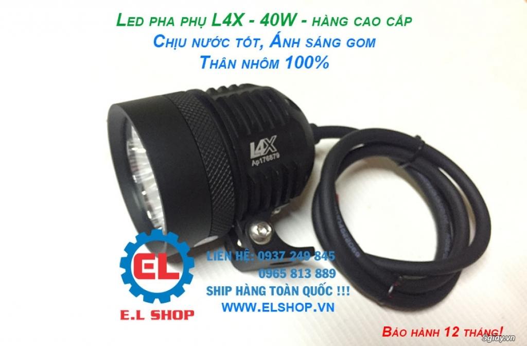 Đèn LED pha phụ cho Mô tô, Ô tô: L4, L4X, L5, L5 NCS, U5, U7, C3, C6.. - 6