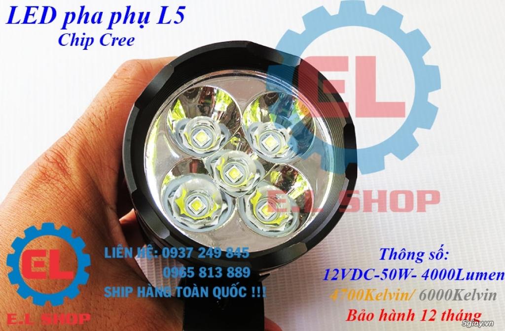 Đèn LED pha phụ cho Mô tô, Ô tô: L4, L4X, L5, L5 NCS, U5, U7, C3, C6.. - 11