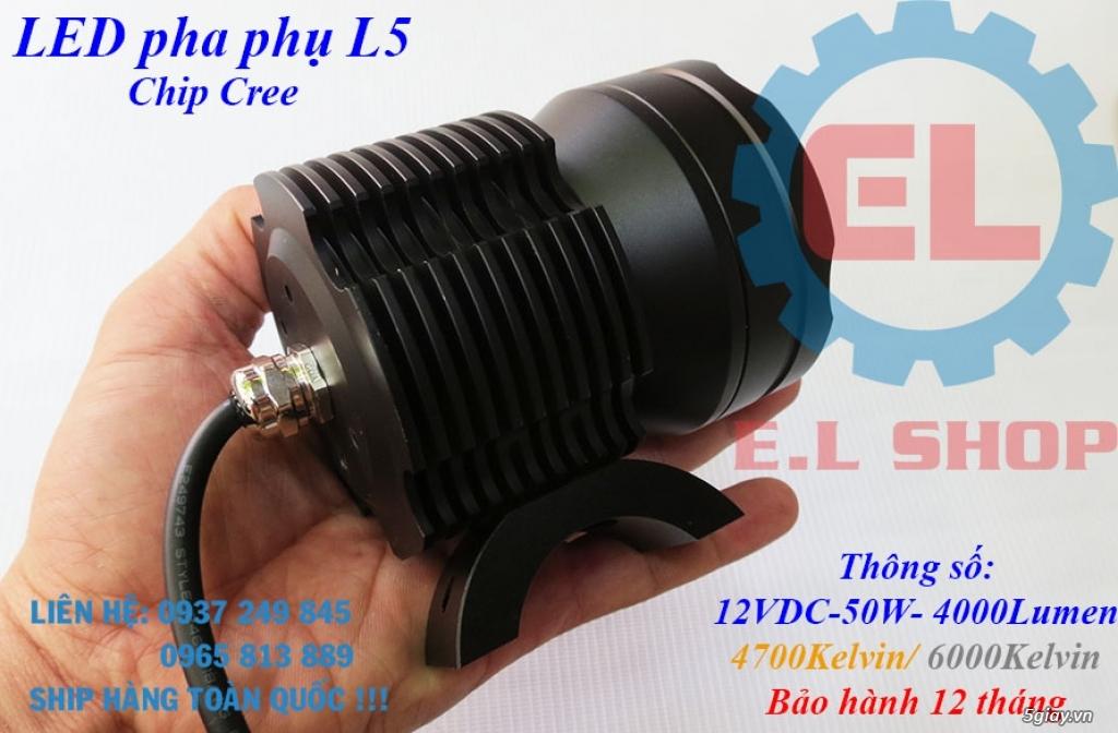 Đèn LED pha phụ cho Mô tô, Ô tô: L4, L4X, L5, L5 NCS, U5, U7, C3, C6.. - 10