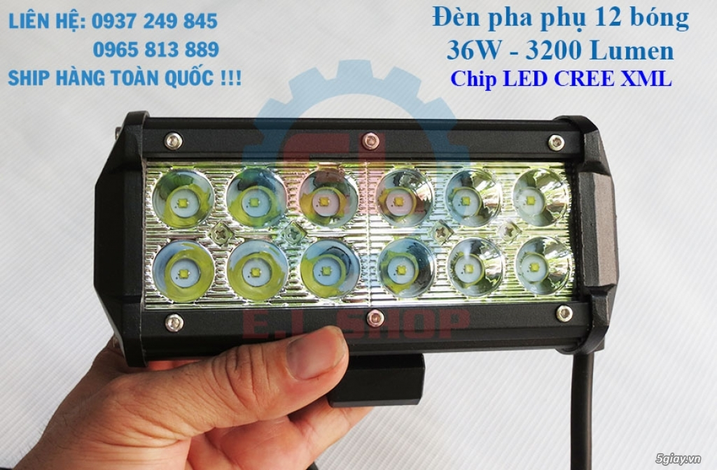 Đèn LED pha phụ cho Mô tô, Ô tô: L4, L4X, L5, L5 NCS, U5, U7, C3, C6.. - 16