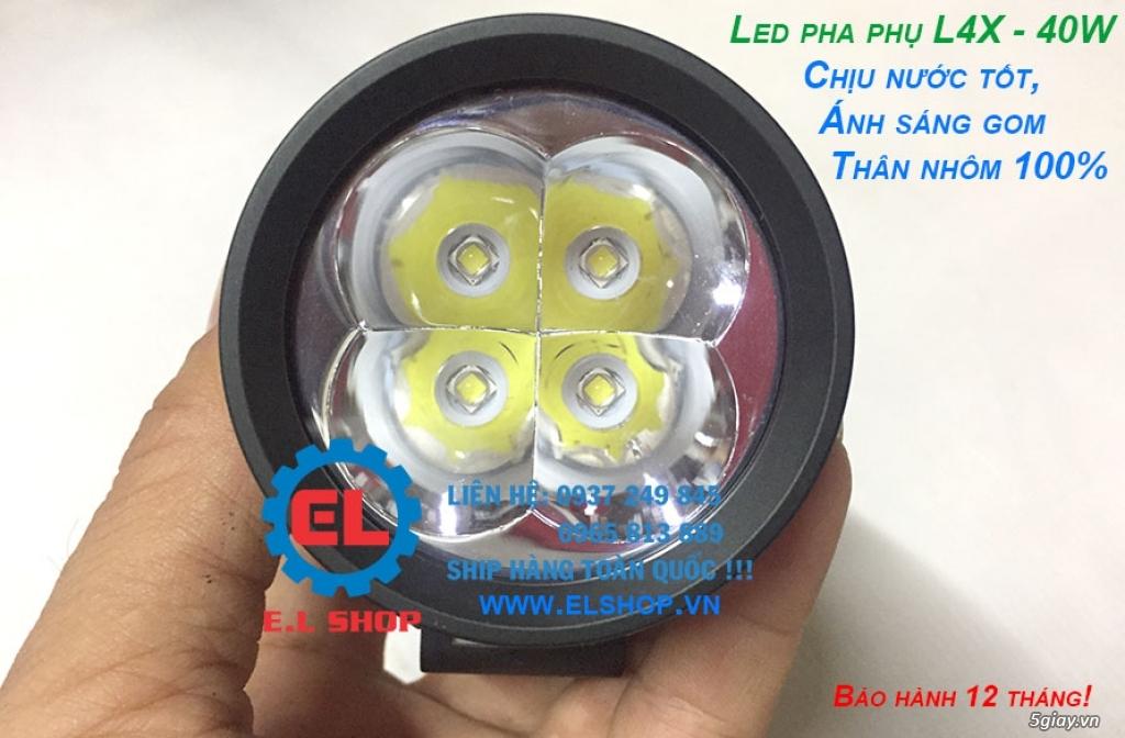 Đèn LED pha phụ cho Mô tô, Ô tô: L4, L4X, L5, L5 NCS, U5, U7, C3, C6.. - 7