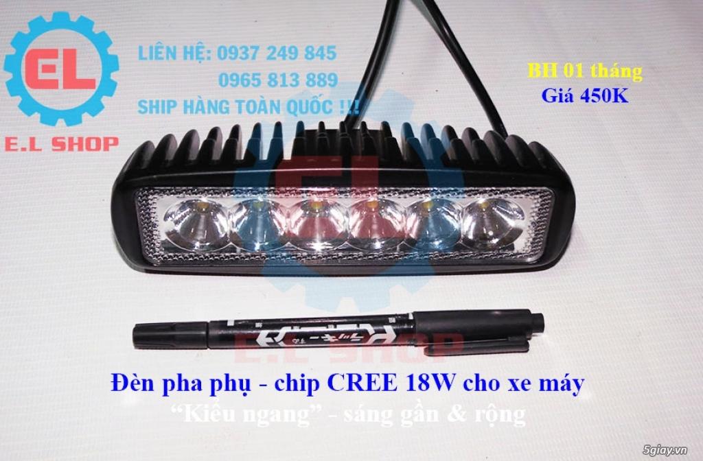 Đèn LED pha phụ cho Mô tô, Ô tô: L4, L4X, L5, L5 NCS, U5, U7, C3, C6.. - 18