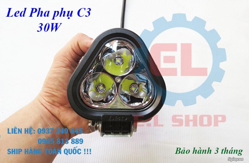Đèn LED pha phụ cho Mô tô, Ô tô: L4, L4X, L5, L5 NCS, U5, U7, C3, C6.. - 24