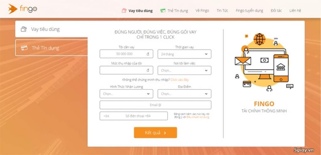 Ra mắt Fingo.vn: giải pháp phân tích vay trả góp qua mạng - 207334