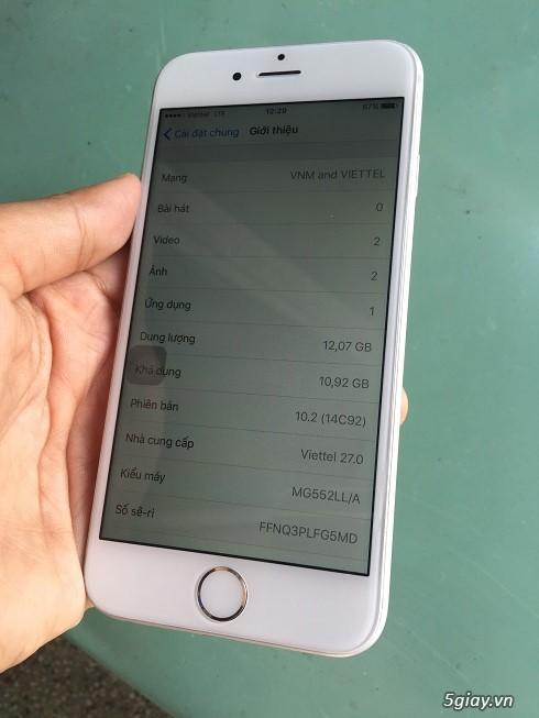 iphone6 16gb quốc tế màu trắng zin all