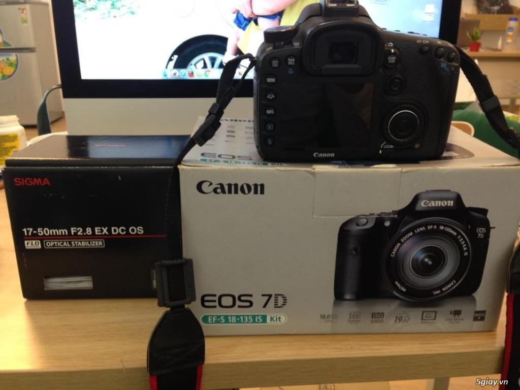 Body Canon 7D + Lens Sigma 17-50 mm f2.8