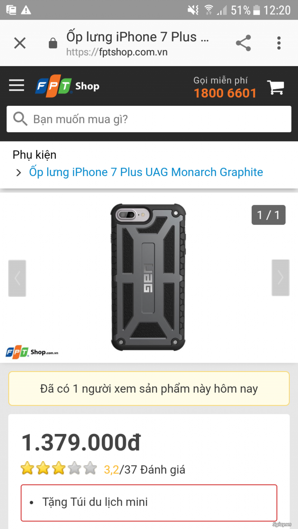 Ốp lưng siêu xịn uag cho iphone 6plus /7plus/8plus