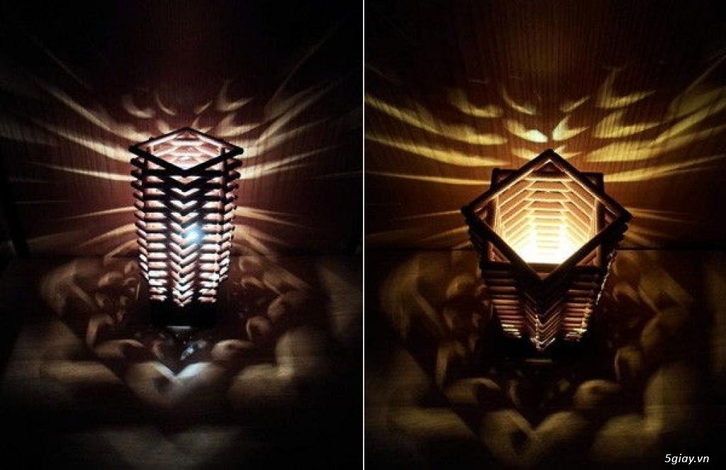Làm đèn trang trí từ que gỗ cực độc - 207804