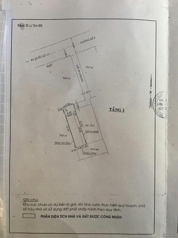 Cần bán gấp 3 lô đất chính chủ ở 70/2 đường số 2, P. Hiệp Bình Phước - 2