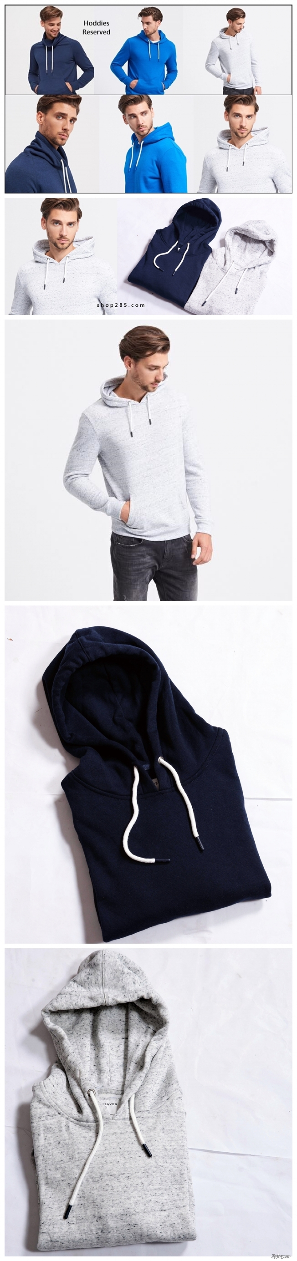 Áo thun Hollister VNXK,áo thun SuperDry VNXK ,áo A&F VNXK ,áo thun cổ tim thun láng - 6