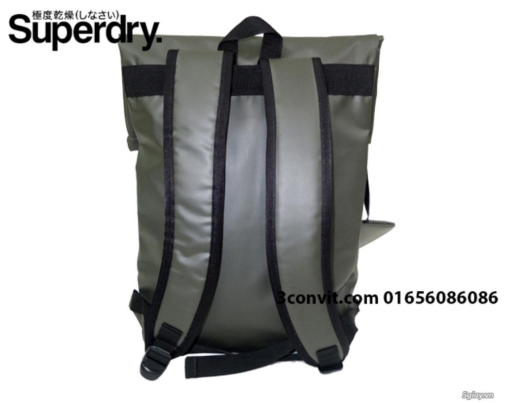 Balo Superdry Deluxe Tarpaulin Backpack Grey new 100%, giá rẻ - 3
