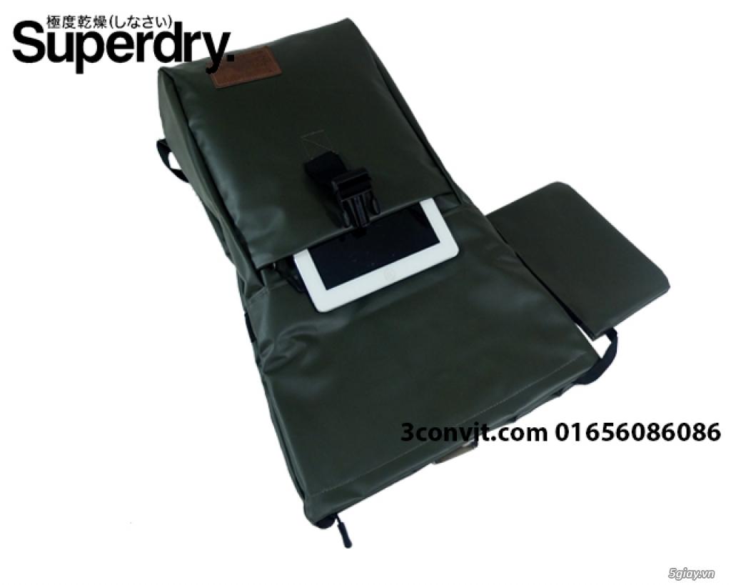 Balo Superdry Deluxe Tarpaulin Backpack Grey new 100%, giá rẻ - 4