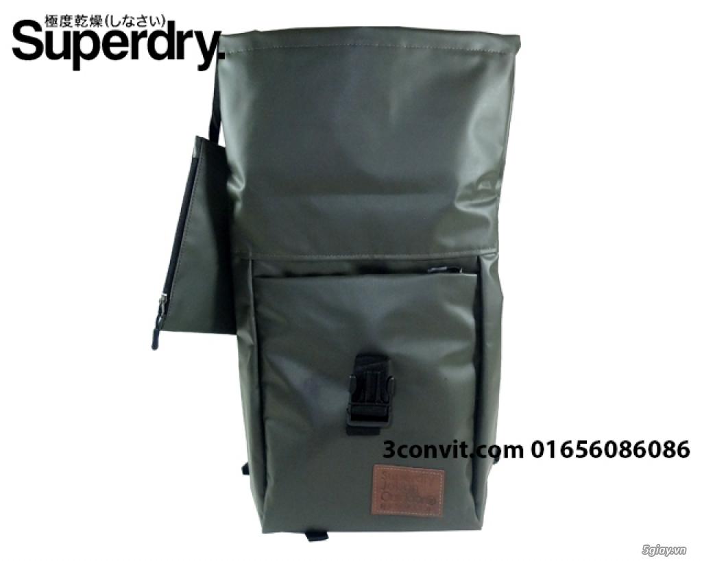 Balo Superdry Deluxe Tarpaulin Backpack Grey new 100%, giá rẻ - 5