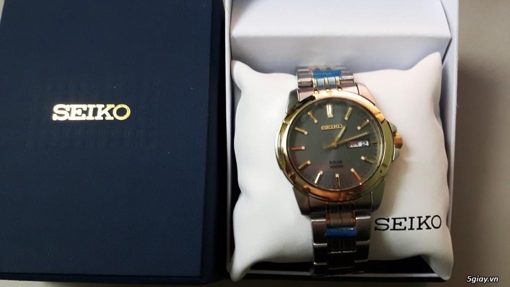 Cần thanh lý nhanh Seiko Men's SNE098 hàng Mỹ