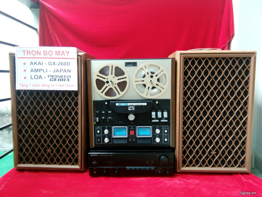 Bộ COMBO - Máy AKAI - Dành cho người chuẩn bị nghe nhạc vàng xưa trước 1975